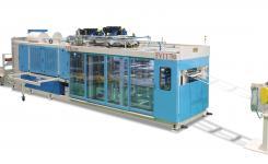 Новая термоформовочная машина с формовочной, вырубной и накопительной станциями на одной раме